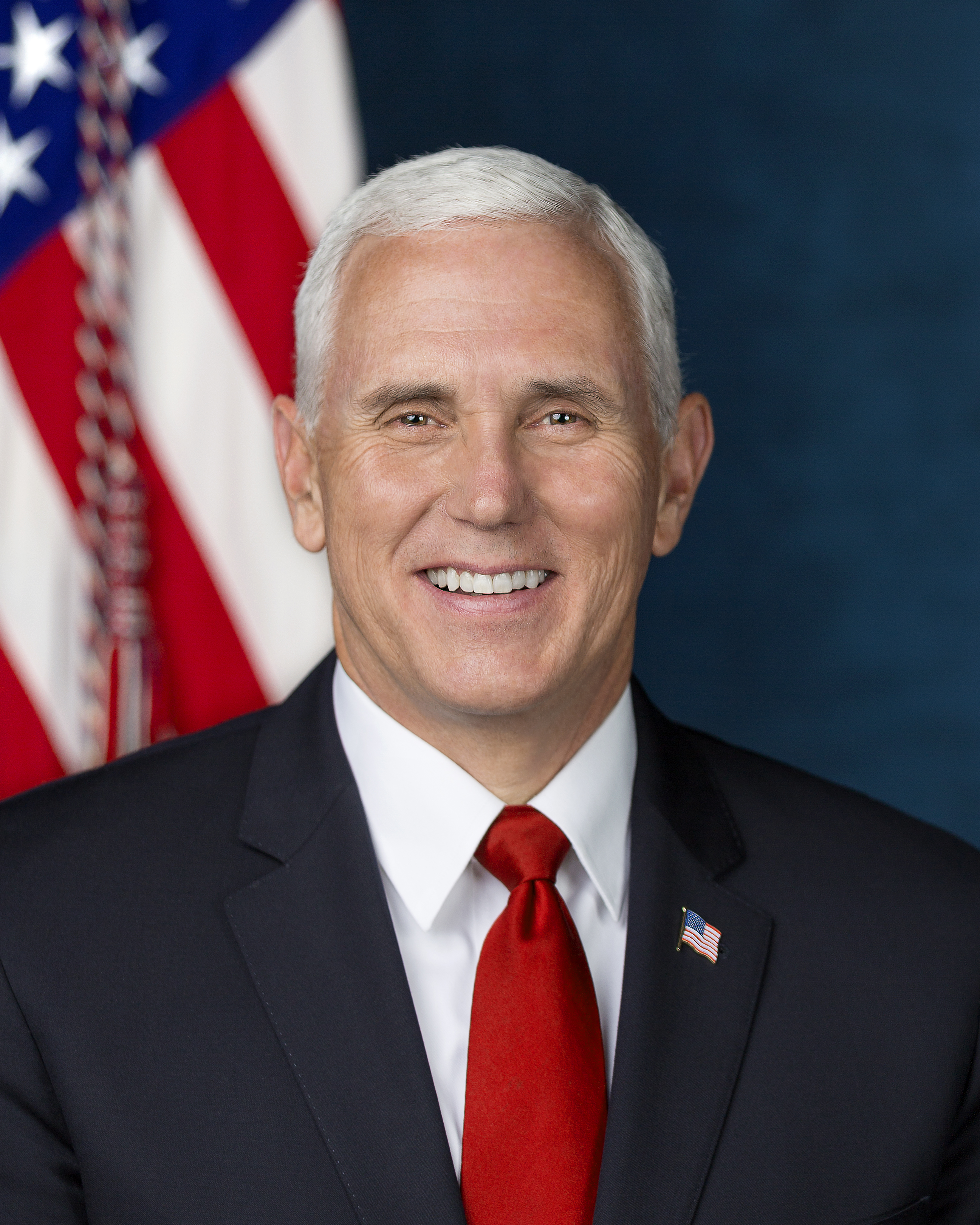 Official Portrait of Vice President Michael R. Pence
