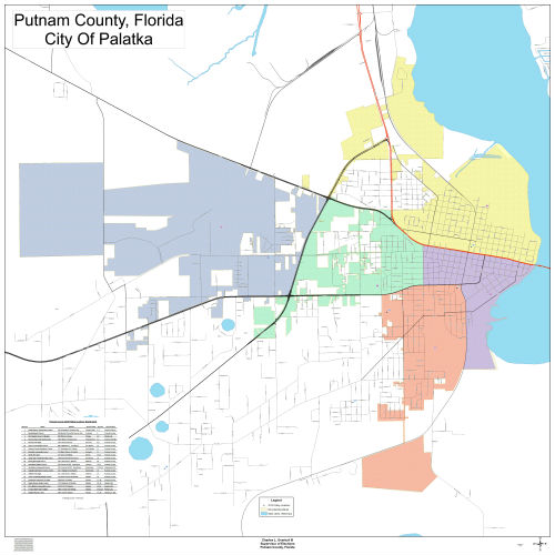 Florida City County Map.District Maps